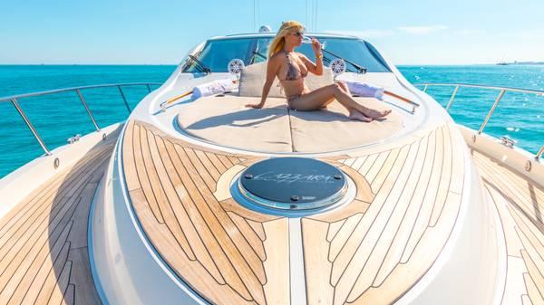 58 Foot Azimut Yacht Rental South Beach Miami