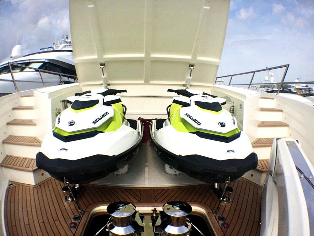 super yacht 110 miami jetskis