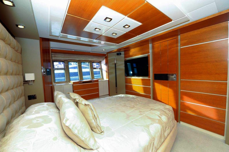 master stateroom 70 florida luxury yacht charter