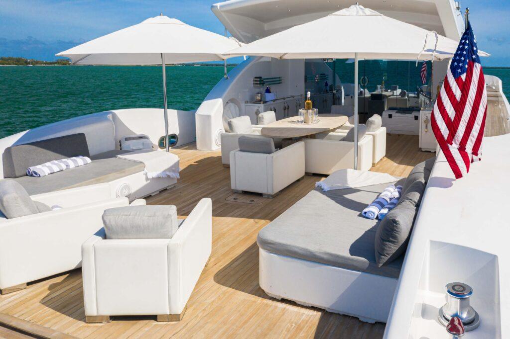 120' Technomar south florida yacht charters