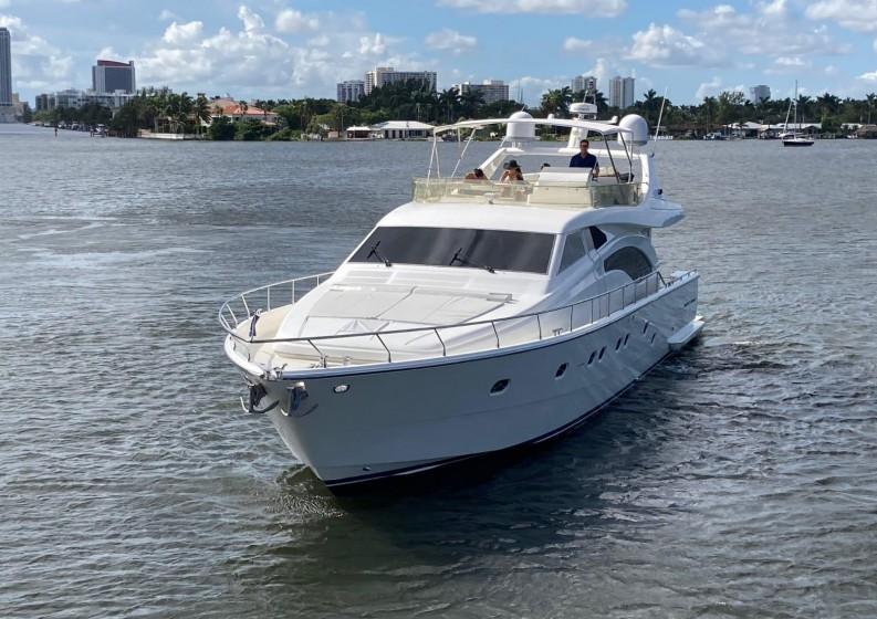 75' Ferreti South Florida Yacht Charters