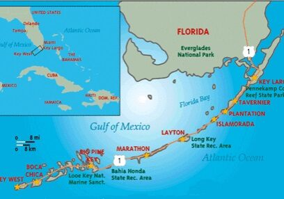 Florida Keys Yacht Charter Map